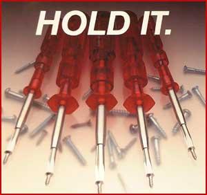 "Quick Wedge Screw holding screwdriver 12"" Length"