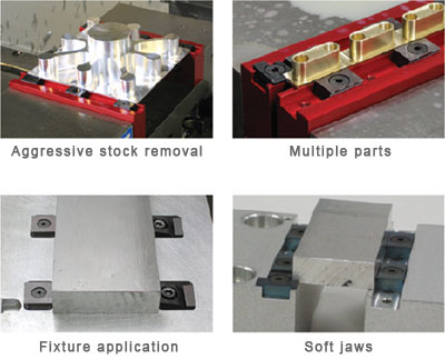 "Mitee-Bite 4/""//6/"" TalonGrip Steel Vise Jaw Set for CNC Mill Vises"