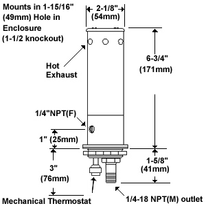 H R Mechanical Newfoundland Mechanical Thermostat  25